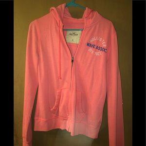 Hollister coral sweatshirt/hoodie